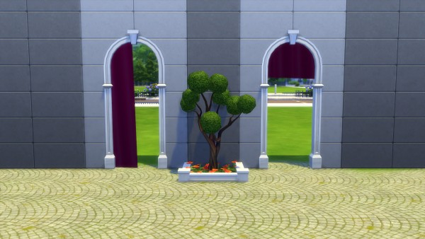 Mod The Sims: Animated Breezy Curtains for Arches and Open Windows by Snowhaze