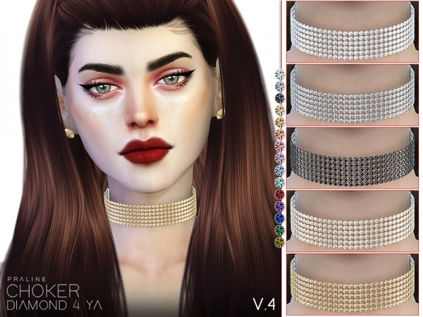 The Sims Resource: Diamond 4 Ya   Choker Set by Pralinesims