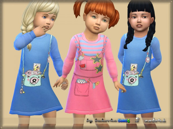 The Sims Resource: Dress Fashionista by bukovka