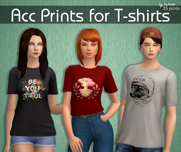 Tukete: Acc Prints for T shirts