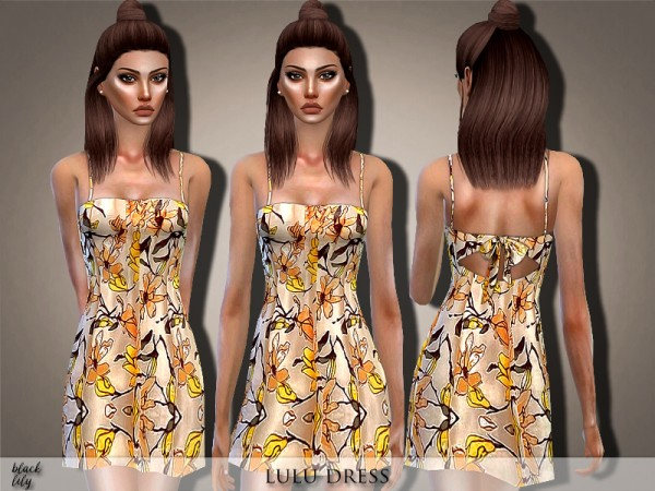 The Sims Resource: Lulu Dress by Black Lily