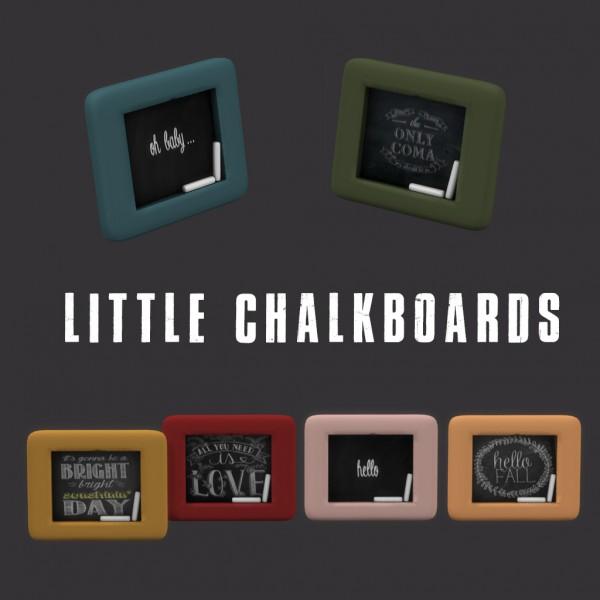 Leo 4 Sims: Little chalkboards