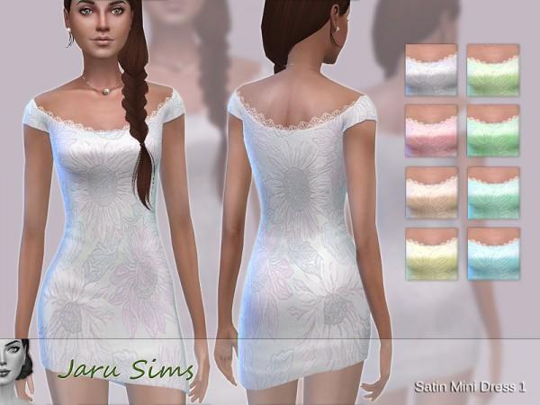 The Sims Resource: Satin Mini Dress 1 by Jaru Sims