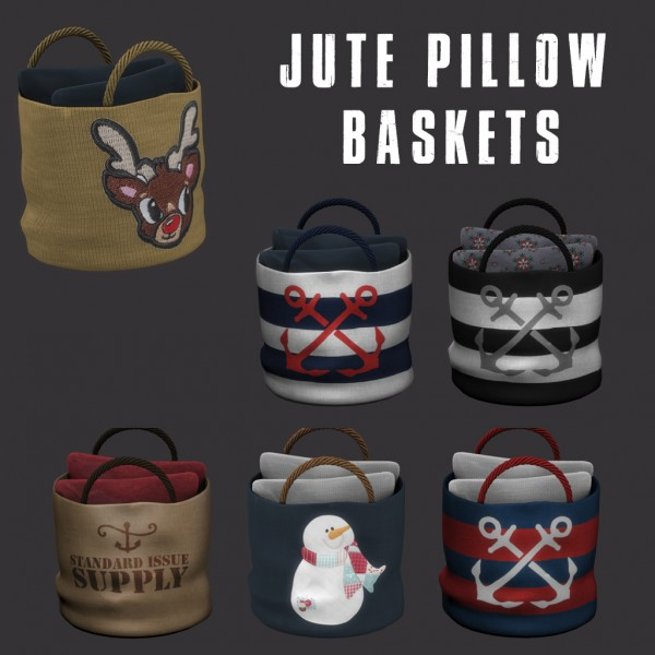 Leo 4 Sims: Jute Pillow Basket
