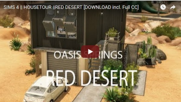 Ideassims4 art: Housetour Red dessert
