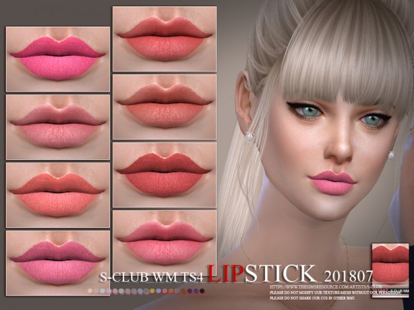 The Sims Resource: Lipstick 201807 by S Club