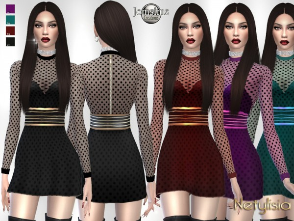 The Sims Resource: Netylisia dress by jomsims