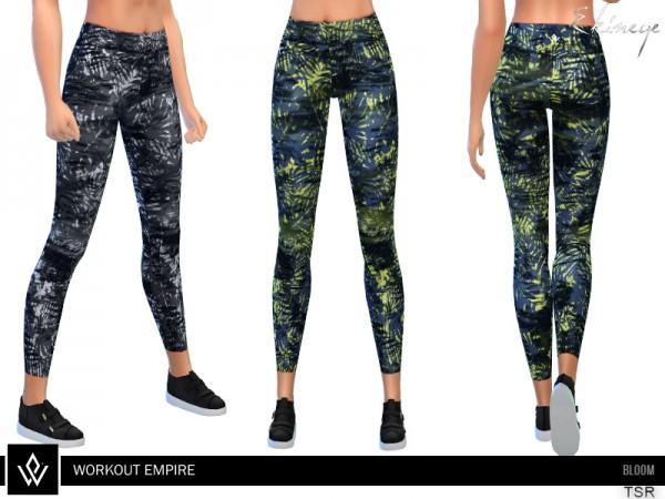 The Sims Resource: Workout Empire Bloom Leggings by ekinege
