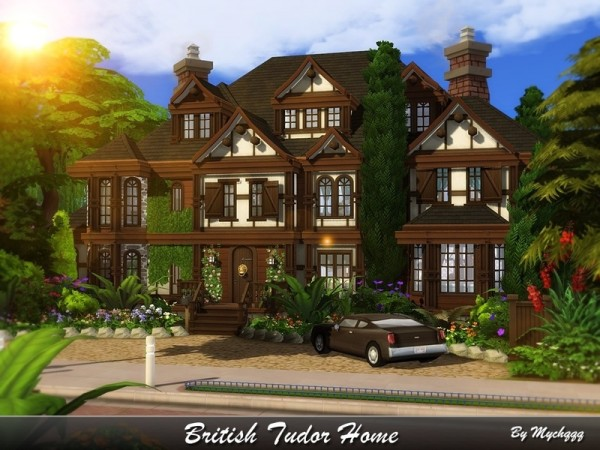 The Sims Resource: British Tudor Home by MychQQQ