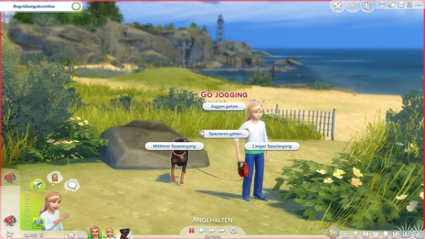 MSQ Sims: Children Can Walk With Dogs mod