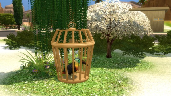 Mod The Sims: Sturdy Birdie Bird Cage by Snowhaze