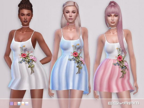 The Sims Resource: The flowery dress by EsyraM