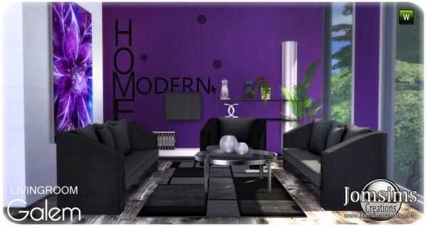 Jom Sims Creations: Galem livingroom