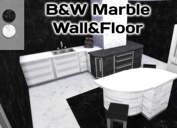 Simming With Mary: Black and White Marble walls and floors