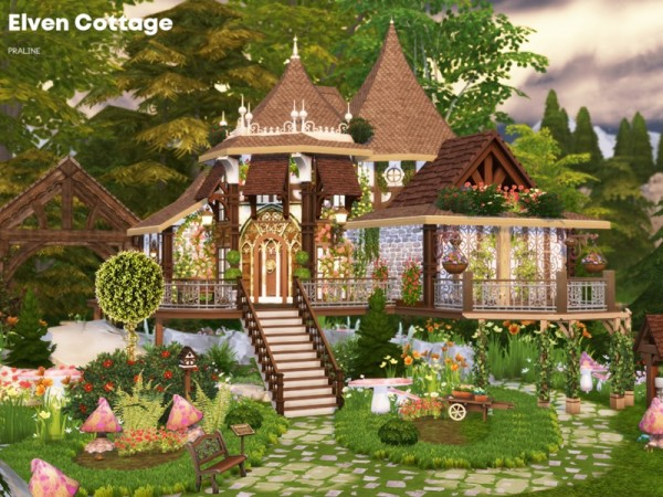 The Sims Resource Elven Cottage By Pralinesims Sims 4
