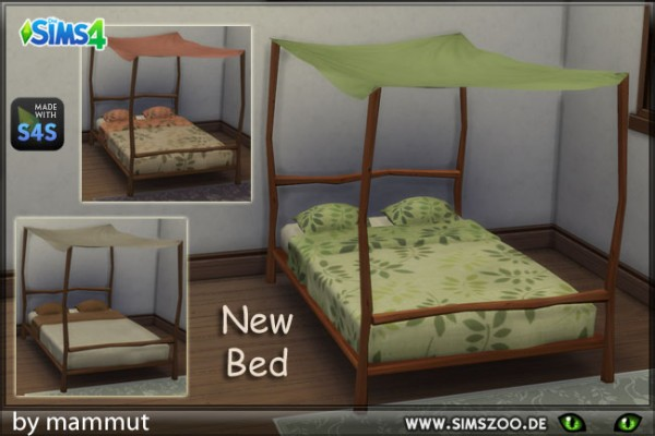 Blackys Sims 4 Zoo: Double bed Nature by mammut