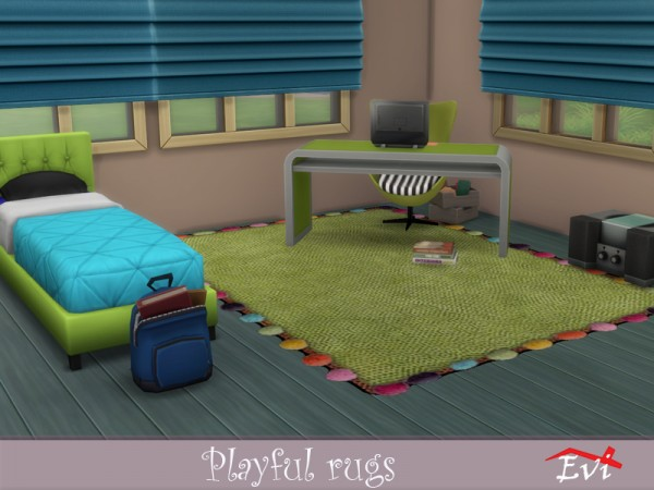 The Sims Resource: Playful Rugs by evi