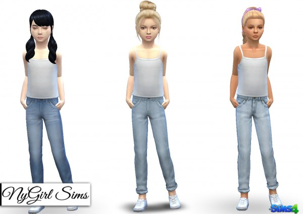 NY Girl Sims: Cuffed Jean for Children