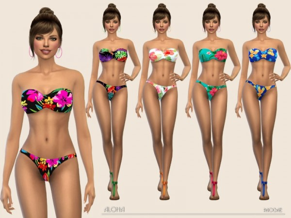 The Sims Resource: Aloha swimsuit by Paogae