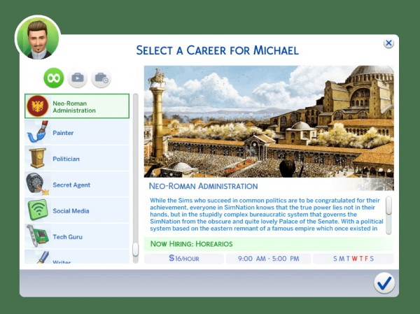Mod The Sims: Neo Roman Byzantine Administration Career by andrefortes