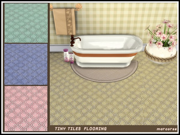 The Sims Resource: Tiny Tiles Flooring by marcorse