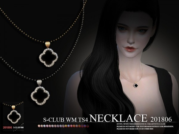 The Sims Resource: Necklace F 201806 by S club