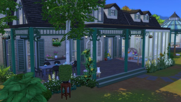 Mod The Sims: Greenhouse Manor   No CC by Chaosking