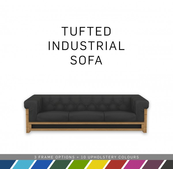 Simplistic: Tufted Industrial Sofa
