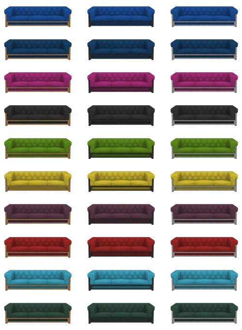 Simplistic: Tufted Industrial Sofa