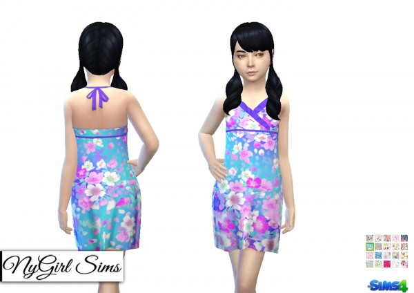 NY Girl Sims: Asymmetrical Ruffle Sundress