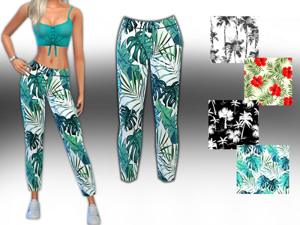 The Sims Resource: Style Summer Trend Pattern Mesh Pants by Saliwa