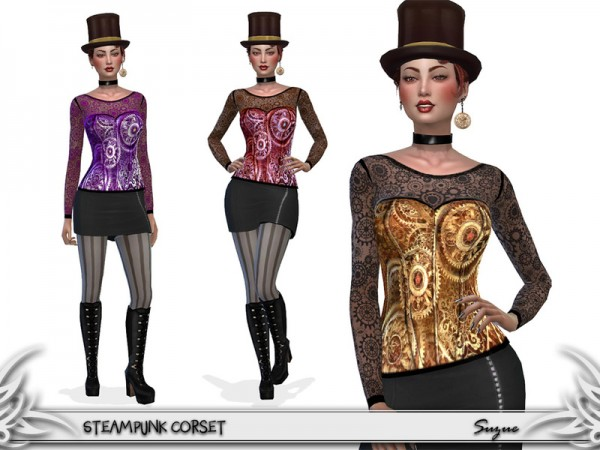 The Sims Resource: SteamPunk Corset by Suzue