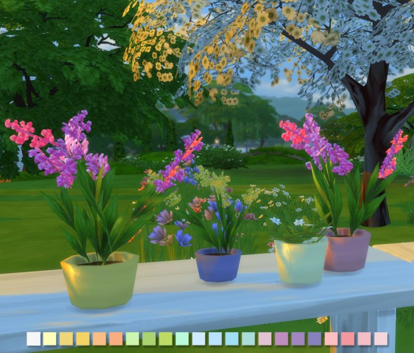 Simlish Designs: Liberated Flowers in Pastels