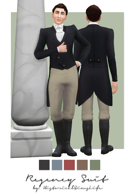 History Lovers Sims Blog: Regency Suit