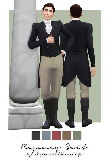 History Lovers Sims Blog: Regency Suit