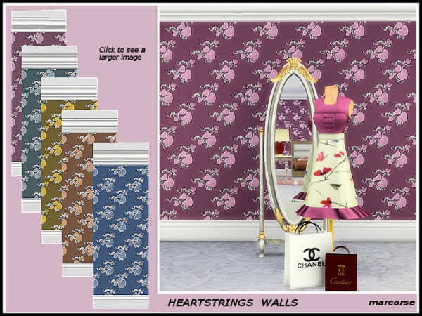 The Sims Resource: Heartstrings Walls by marcorse