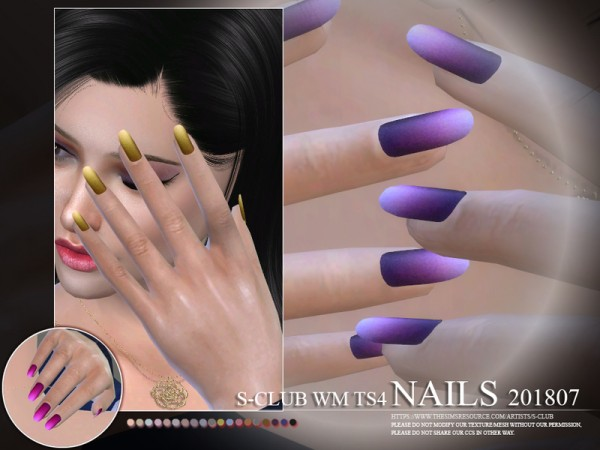 The Sims Resource: Nails 201807 by S Club