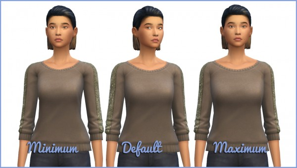 Mod The Sims: Chest Width Slider by Hellfrozeover