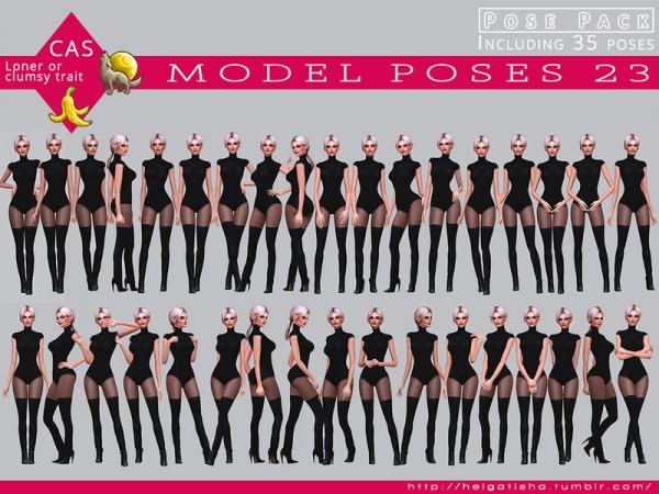 The Sims Resource: Model poses 23 Posepack by HelgaTisha