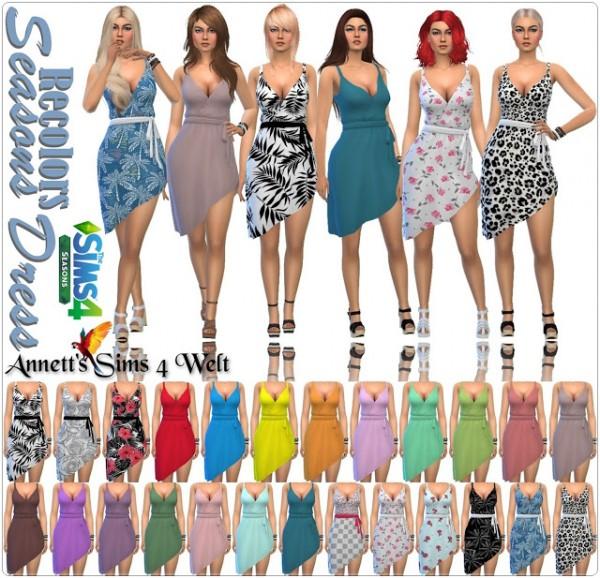 Annett`s Sims 4 Welt: Seasons Dress   Recolors
