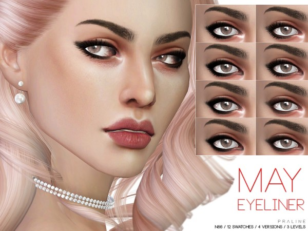 The Sims Resource: May Eyeliner N86 by Pralinesims