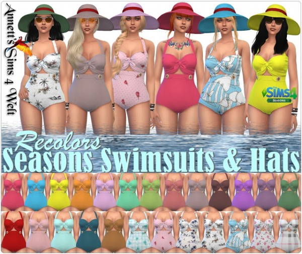 Annett`s Sims 4 Welt: Seasons Swimsuits and Hats   Recolors