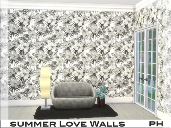 The Sims Resource: Summer Love Walls 1 by Pinkfizzzzz