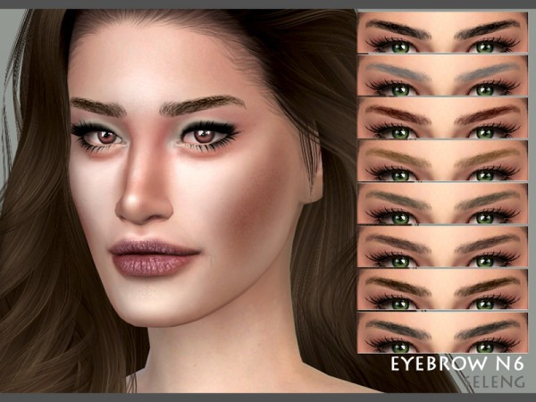 The Sims Resource: Eyebrows N6 by Seleng