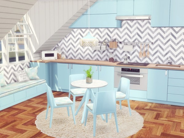 The Sims Resource: Pastel Kitchen by Sooky