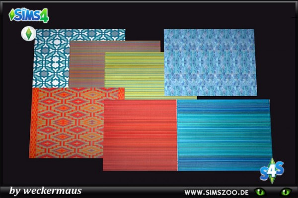 Blackys Sims 4 Zoo: Decoration Fun Carpets by weckermaus