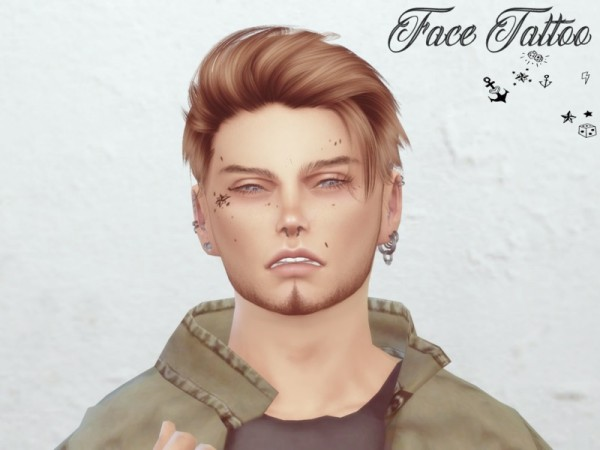 The Sims Resource: Face Tattoo by Reevaly