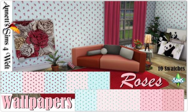 Annett`s Sims 4 Welt: Wallpapers Little Roses