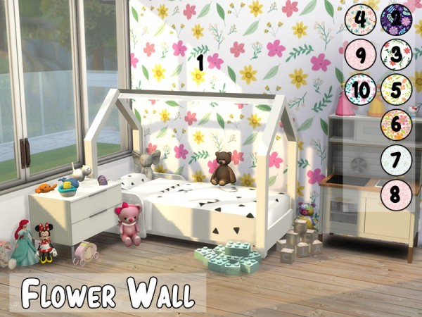 Models Sims 4: Flower Wall