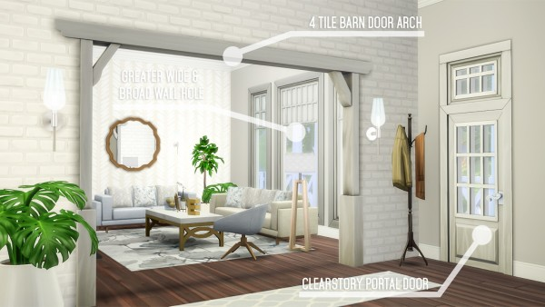 Simsational designs: 55 Fixed, Additional and New Doors, Arches, and Windows